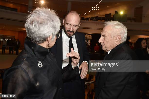 Berta Gehry Ralph Fiennes and Frank Gehry attend the Mariinsky Orchestra Concert in honor of Henry Segerstrom and the 50th anniversary of South Coast...