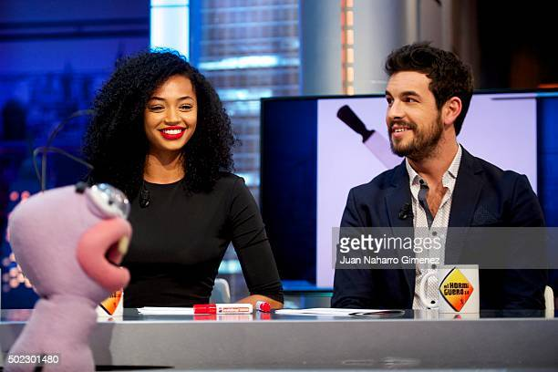 Berta Vazquez and Mario Casas attend 'El Hormiguero' Tv show at Vertice Studio on December 22 2015 in Madrid Spain