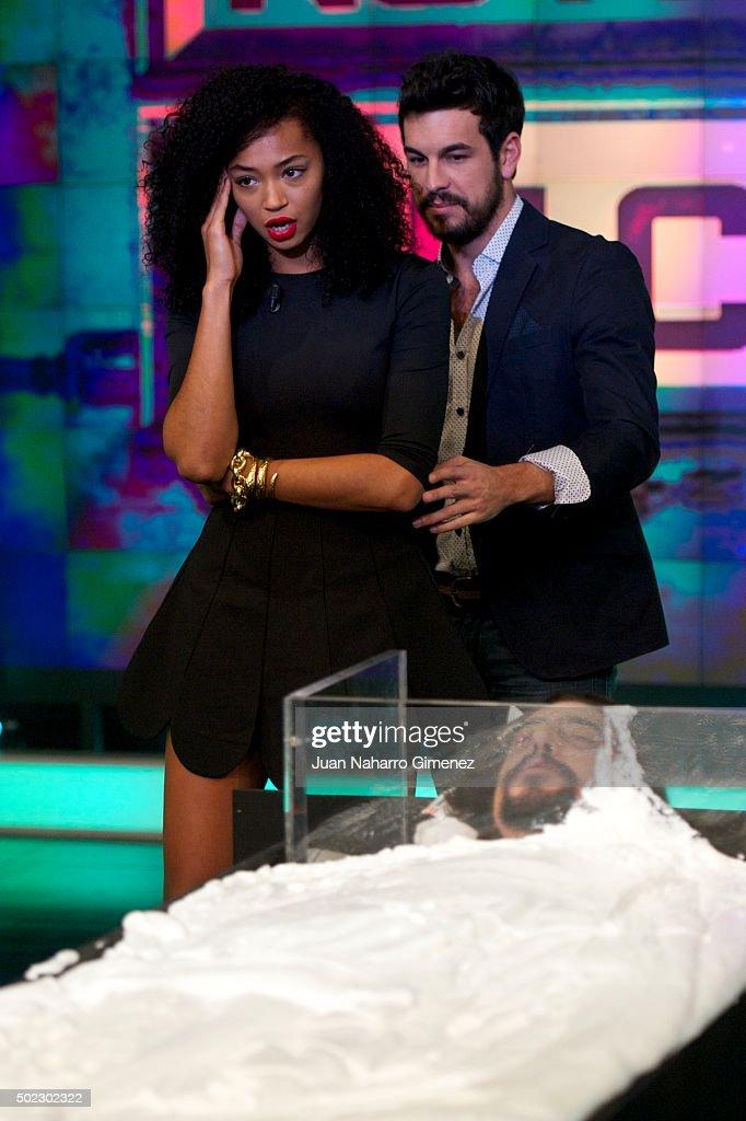 Berta Vazquez And Mario Casas Attend El Hormiguero Tv Show At