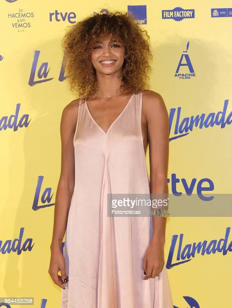 Berta Vazquez attends the 'La Llamada' premiere yellow carpet at the Capitol cinema on September 26 2017 in Madrid Spain