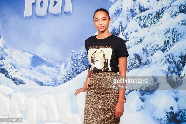 Berta Vazquez attends the 'Small Foot' photocall at Urso hotel on October 4 2018 in Madrid Spain