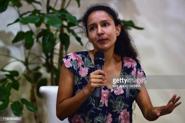 Berta Zuniga Caceres coordinator of the Council of Popular and Indigenous Organizations of Honduras and daughter of slain indigenous leader and...