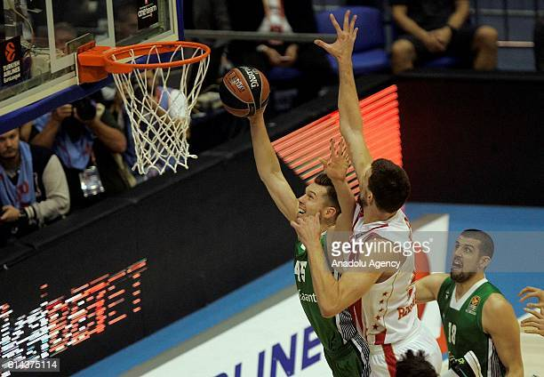 Bertans Dairis of Darussafaka Dogus in action during the Turkish Airlines EuroLeague match between KK Crvena zvezda and Darussafaka Dogus at Hall...