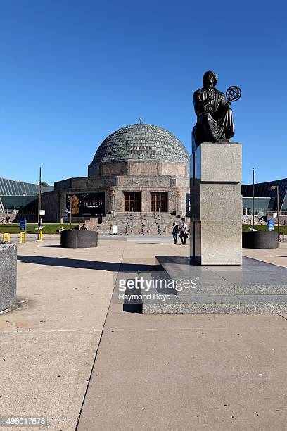 Bertel Thorwaldsen and Bronislaw Koniuszy's Nicolaus Copernicus Monument sits outside the Adler Planetarium in Chicago Illinois on November 2 2015