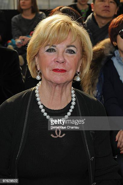 Bertelsmann Chairwoman Liz Mohn attends the Louis Vuitton Ready to Wear show as part of the Paris Womenswear Fashion Week Fall/Winter 2011 at Cour...
