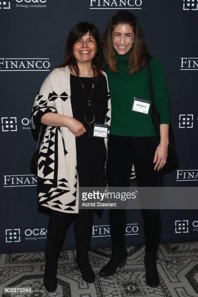Bertha Escudero and Julia Strauss attend the Financo CEO Forum on January 15 2018 in New York City