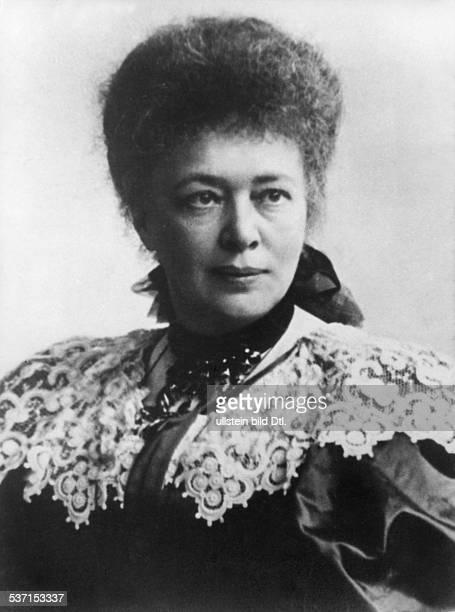 Bertha von Suttner Bertha von Suttner Writer Austria awarded the Peace Nobel Price 1905 portrait late 19th century