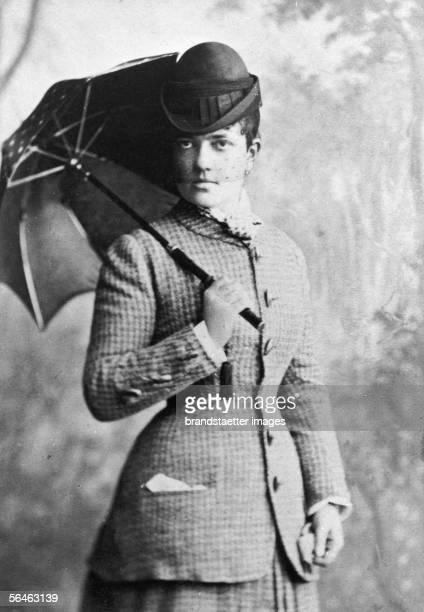 Bertha von Suttner nee countess Kinsky Austrian pacifist and author Photography about 1870 [Bertha von Suttner geborene Graefin Kinsky...