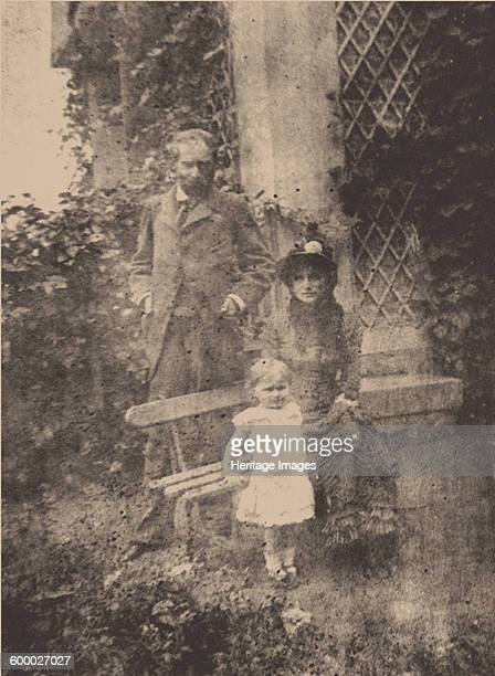 Berthe Morisot her husband Eugène Manet and their daughter Julie ca 1881 Found in the collection of Musée d'Orsay Paris Artist Anonymous