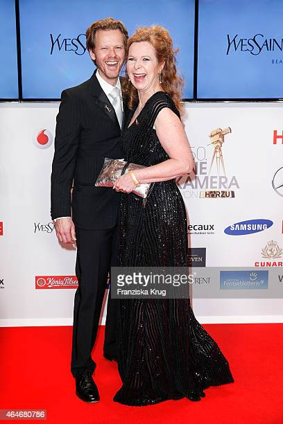 Berthold Manns and Marion Kracht attend the Goldene Kamera 2015 on February 27, 2015 in Hamburg, Germany.