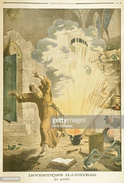 Berthold Schwart 14th century German Franciscan monk and alchemist 1901 Schwart is supposed to be the first European to discover gunpowder...