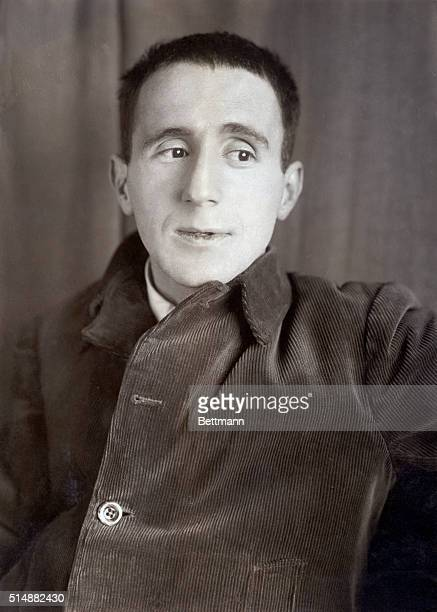 Bertholt Brecht German dramatist and poet Head and shoulders photograph