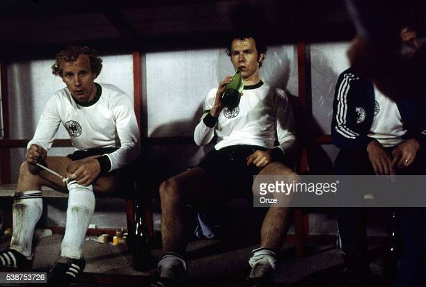 Berti Vogt and Franz Beckenbauer of West Germany during the European Championship Final between Czechoslovakia v Germany in Stade Crvena Zvezda...