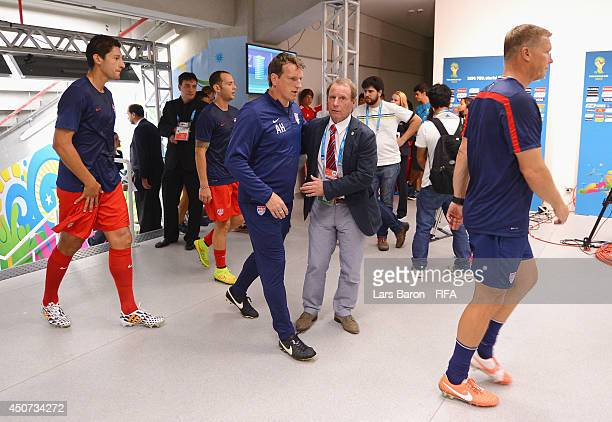 Berti Vogts advisor for the USA team looks on during the 2014 FIFA World Cup Brazil Group G match between Ghana and USA at Estadio das Dunas on June...