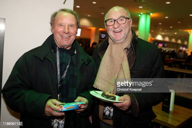 Berti Vogts and Horst Koeppel attend the Club Of Former National Players Meeting at Borussia Park Stadium on November 16 2019 in Moenchengladbach...