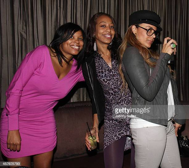 Bertia Barron Sari Baez and Capricorn attend the 2008 Rocawear Christmas party at 1Oak on December 11 2008 in New York City
