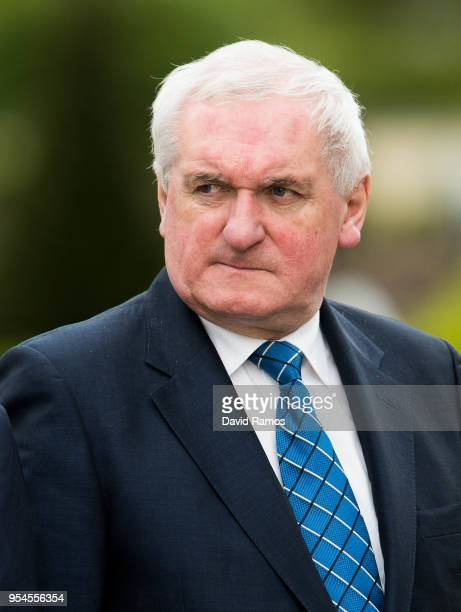 Bertie Ahern former Prime Minister of Ireland looks on during the International event to advance in the resolution of the conflict in the Basque...