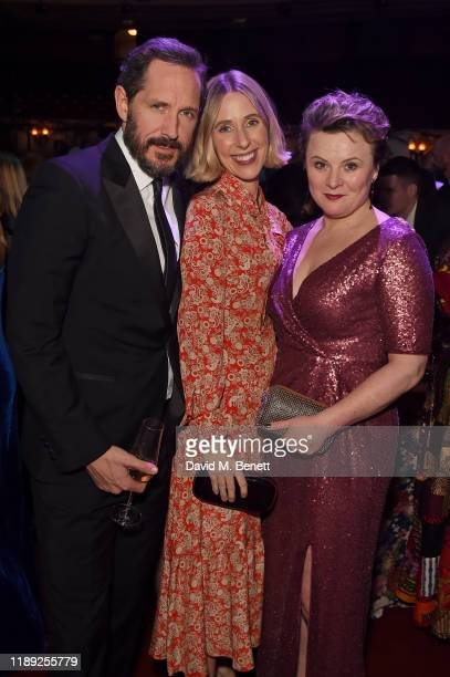 Bertie Carvel Sally Scott and Monica Dolan attend the after party of the 65th Evening Standard Theatre Awards In Association With Michael Kors at...