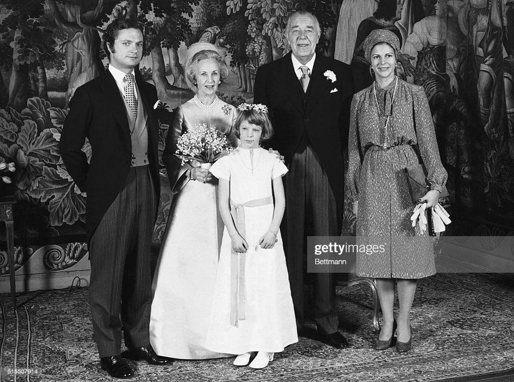 Prince Bertil's Wedding Party : News Photo