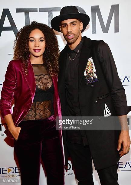 Bertille Sefolosha and Thabo Sefolosha attend the ATTOM Atlanta Store Private Opening on November 11 2016 in Atlanta Georgia