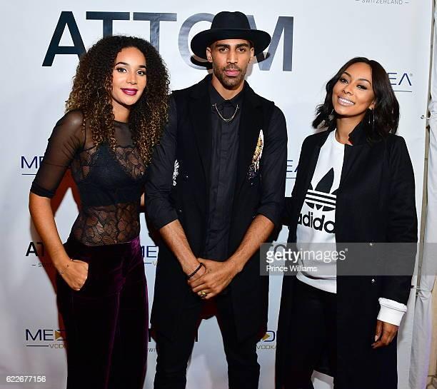 Bertille Sefolosha Thabo Sefolosha and Keri Hilson attend the ATTOM Atlanta Store Private Opening on November 11 2016 in Atlanta Georgia