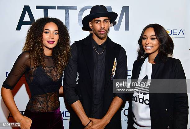 Bertille Sefolosha Thabo Sefolosha and Keri Hilson attend the ATTOM Atlanta Store Private Opening on November 11 2016 in Atlanta Georgia