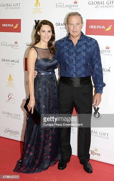 Bertin Osborne and Fabiola Martinez attend Global Gift Gala Marbella 2015 at Gran Melia Don Pepe Resort on July 5 2015 in Marbella Spain
