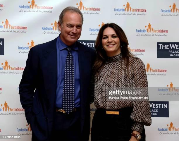 Bertin Osborne and Fabiola Martinez attend '#SinInstrucciones Fundacion Bertin Osborne' presentation at Hotel Westin Palace on October 02 2019 in...