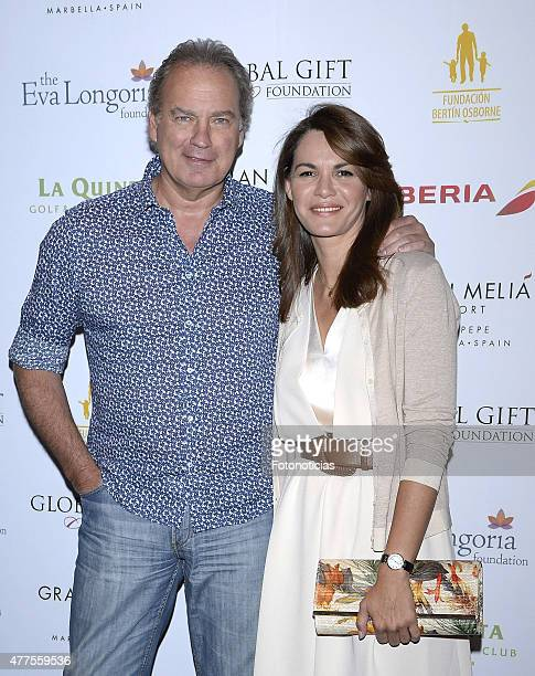 Bertin Osborne and Fabiola Martinez attend the 'Global Gift Foundation Philanthropic Weekend' presentation at Caray on June 18 2015 in Madrid Spain