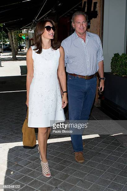Bertin Osborne and his wife Fabiola Martinez are seen on July 30 2015 in Madrid Spain
