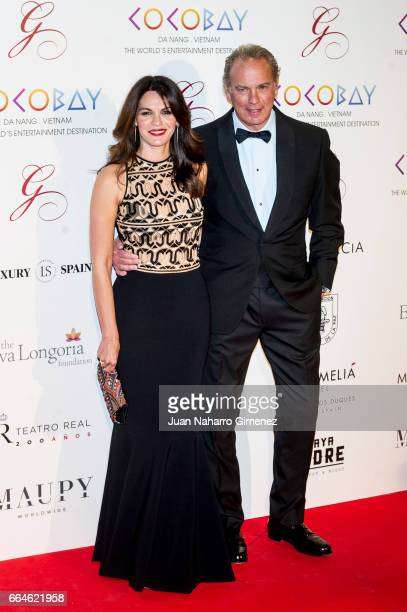 Bertin Osborne and wife Fabiola Martinez attend the Global Gift Gala 2017 at the Royal Teather on April 4 2017 in Madrid Spain