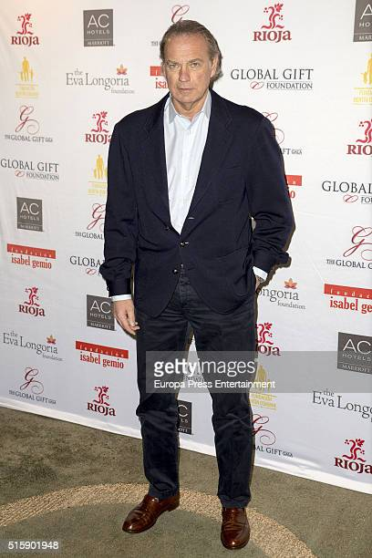 Bertin Osborne attends the Global Gift Madrid Gala presentation at The Suite Bar on March 15 2016 in Madrid Spain