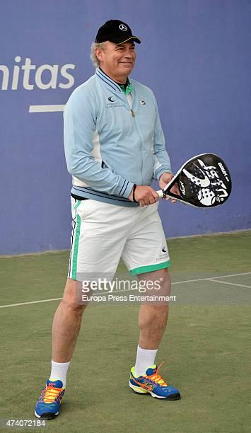Bertin Osborne attends the VI Charity Padel Tournament at Ciudad de la Raqueta on May 19 2015 in Madrid Spain
