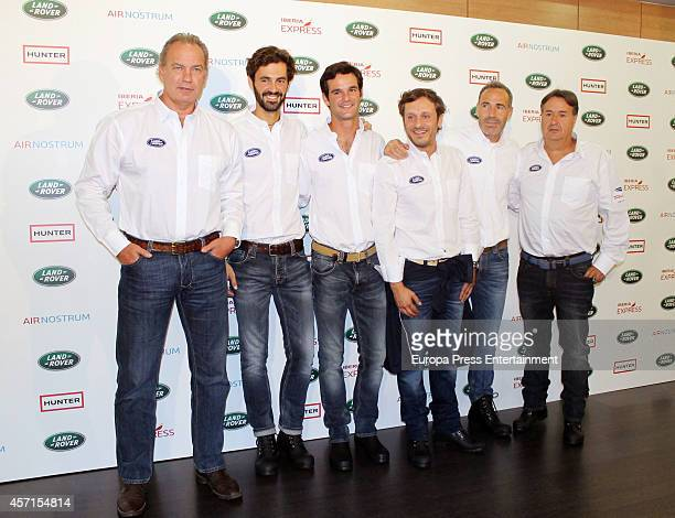 Bertin Osborne Enrique Solis Jose Bono Juan Pena Alex Corretja and Angel Martin attend V Land Rover Discovery Challenge 2013 at Barajas Airport at...