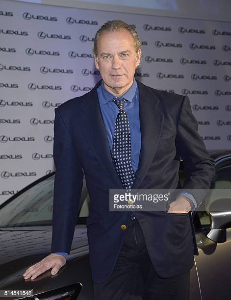 Bertin Osborne is presented as new Lexus Ambassador on March 9 2016 in Madrid Spain