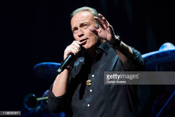 Bertin Osborne perfoms on stage at the Teatro Calderon on March 25 2019 in Madrid Spain
