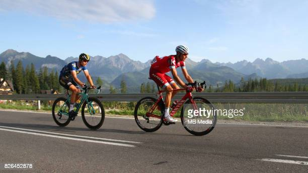 Bert-Jan Lindeman, Maxim Belkov during the Stage 6 of 74th Tour de Pologne on August 3, 2017 in Polana Glodowka, Poland.