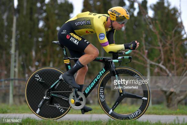 Bertjan Lindeman of Netherlands and Team Jumbo - Visma / during the 77th Paris - Nice 2019, Stage 5 a 25,5km Individual Time Trial stage from...