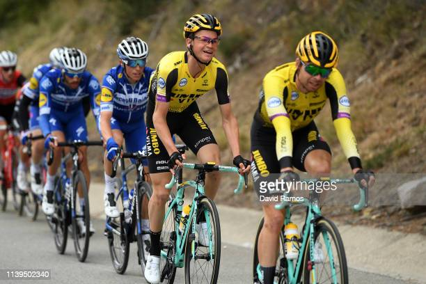 Bertjan Lindeman of The Netherlands and Team Jumbo - Visma / Antwan Tolhoek of The Netherlands and Team Jumbo - Visma / Enric Mas of Spain and Team...