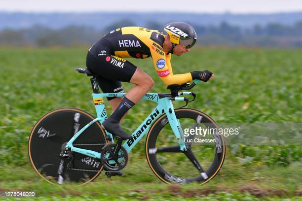 Bertjan Lindeman of The Netherlands and Team Jumbo - Visma / during the 16th BinckBank Tour 2020, Stage 4 a 8,14km Individual Time Trial from Riemst...