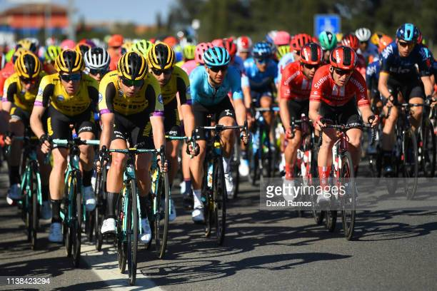 Bertjan Lindeman of The Netherlands and Team Jumbo - Visma / Jan Bakelants of Belgium and Team Sunweb / Peloton / during the 99th Volta Ciclista a...