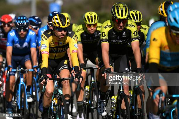 Bert-Jan Lindeman of The Netherlands and Team Jumbo-Visma / Edoardo Affini of Italy and Team Mitchelton-Scott / during the 66th Vuelta a Andalucía -...