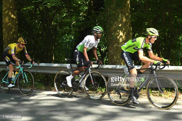 Bert-Jan Lindeman of The Netherlands and Team Jumbo-Visma / Nicholas Dlamini of South Africa and Team Dimension Data / Cyril Barthe of France and...