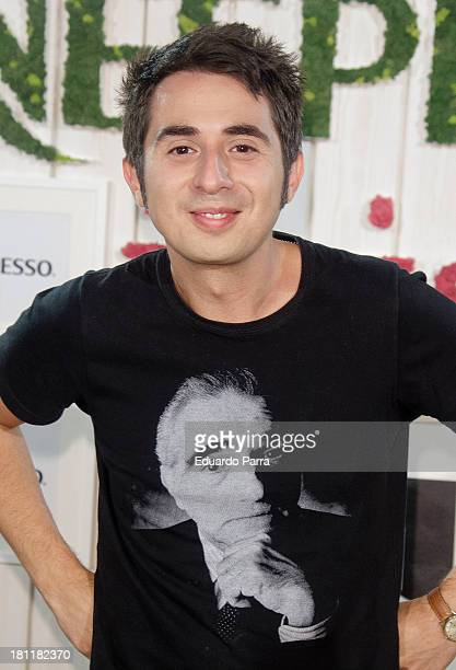 Berto Romero Attends Inissia by Nespresso party photocall at Neptuno palace on September 19 2013 in Madrid Spain