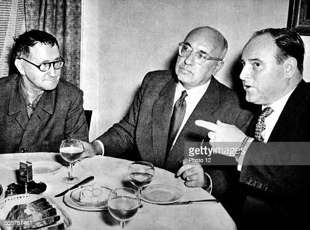 Bertold Brecht and Johannes R Becher in West Berlin Germany Paris Bibliothèque nationale