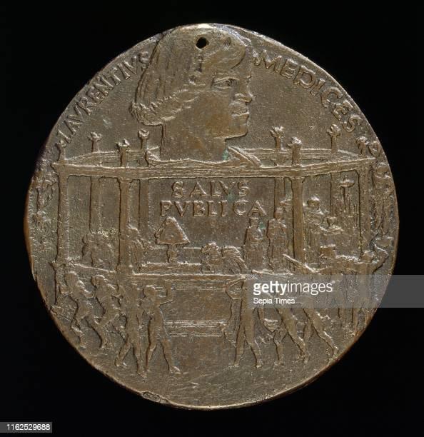 Bertoldo di Giovanni Lorenzo de' Medici il Magnifico 14491492 [obverse] bronze