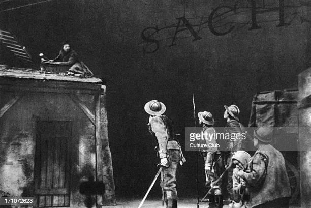 Bertolt Brecht 's 'Mutter Courage Und Ihre Kinder' scene from the play by the German playwright stage director and poet Deutsches Theater Berlin 1949...