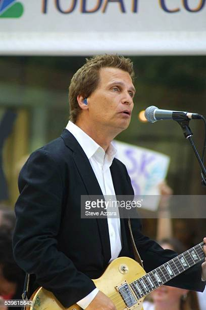 Berton Averre of the group The Knack performs the hit My Sharona with his band outside of the NBC studios during the Onehit Wonders concert Photo by...