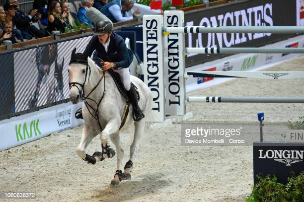 Bertram Allen of Ireland riding Molly Malone V during the Longines FEI Jumping World Cup Verona 2018 CSI5*W on October 28 2018 in Verona Italy