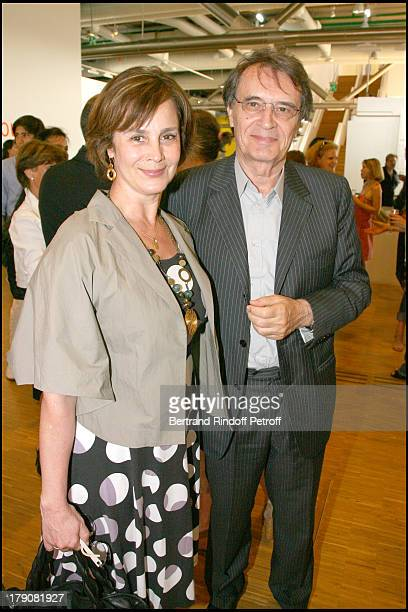 Bertrand and Marcia De Labbey at Private Viewing Of The Exhibition elles@centrepompidou Featuring Works Of More Than 200 Female Artists Of The 20th...